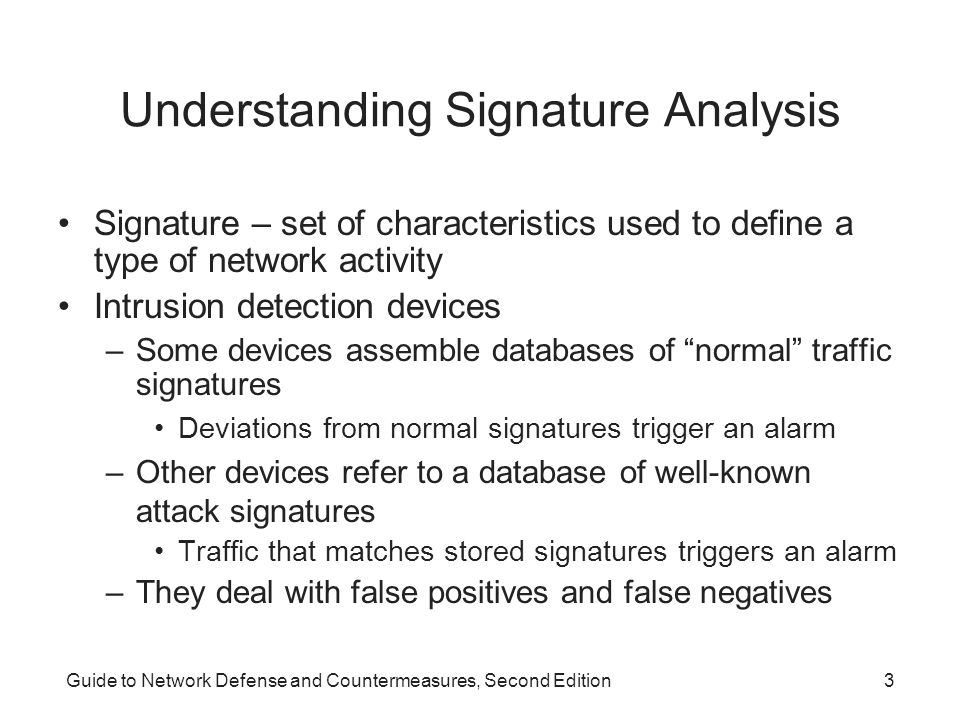 Understanding Signature Analysis