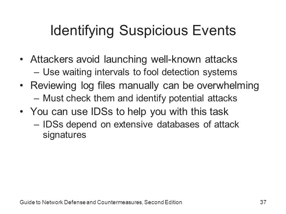 Identifying Suspicious Events