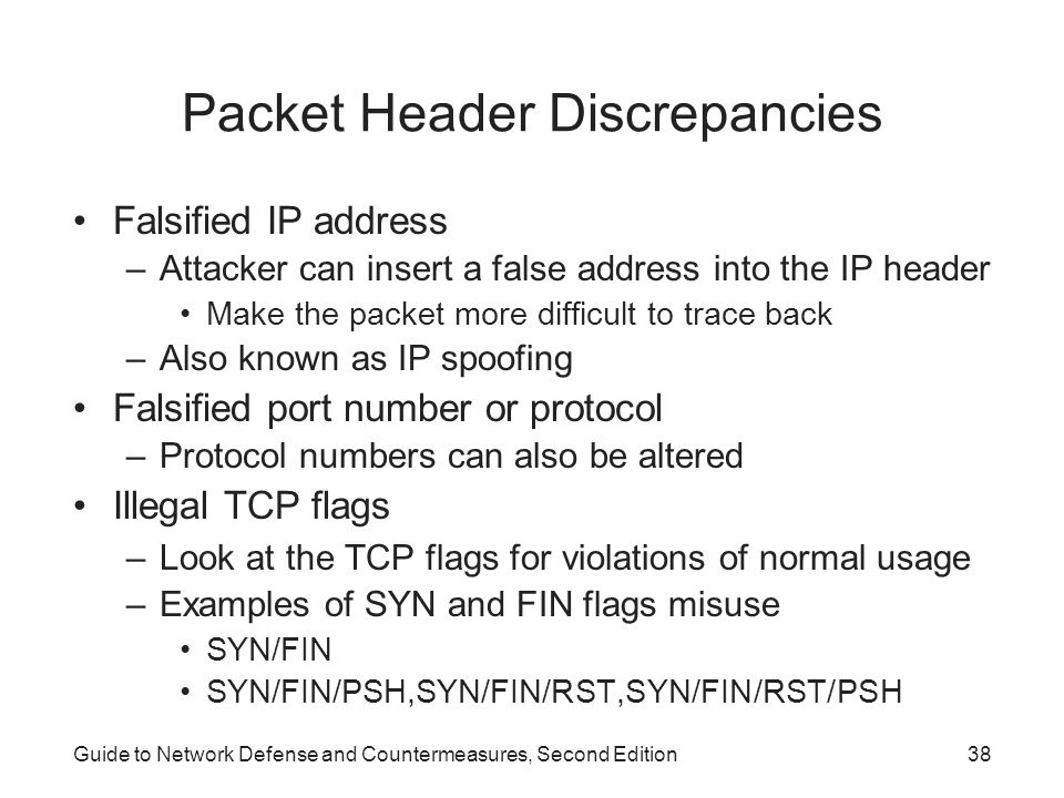 Packet Header Discrepancies