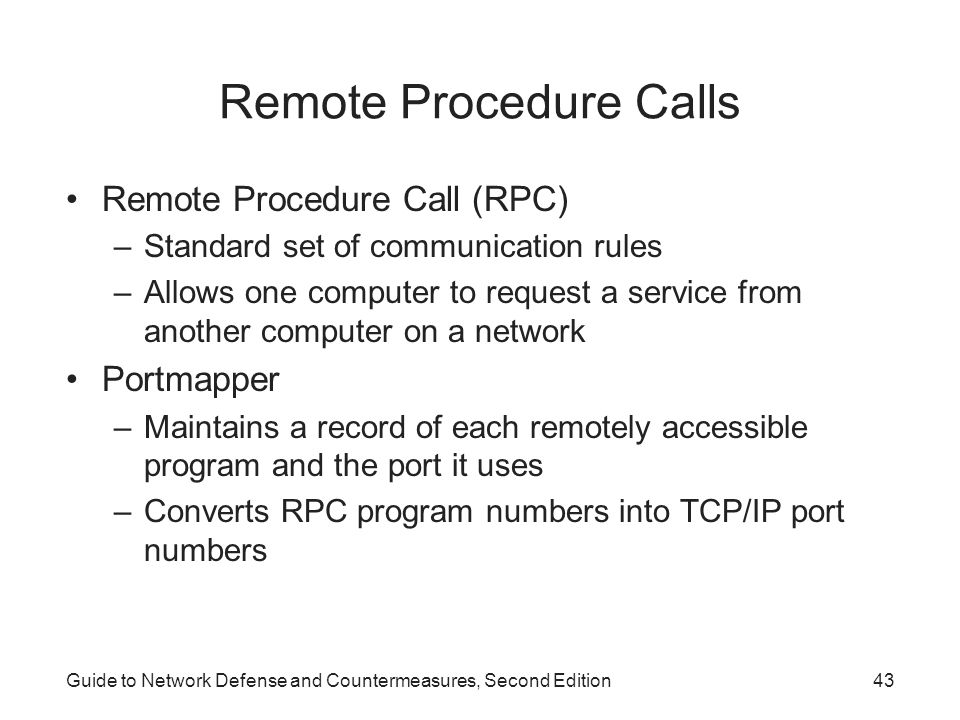 Remote Procedure Calls