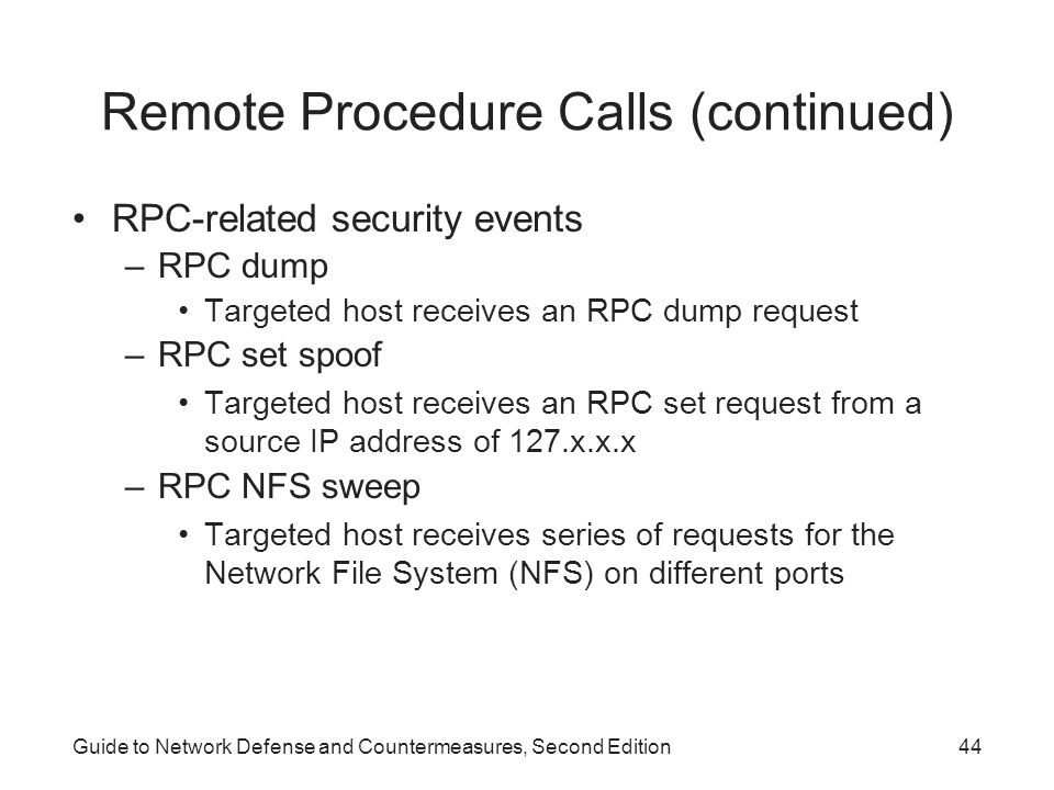 Remote Procedure Calls (continued)