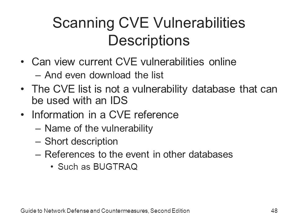 Scanning CVE Vulnerabilities Descriptions