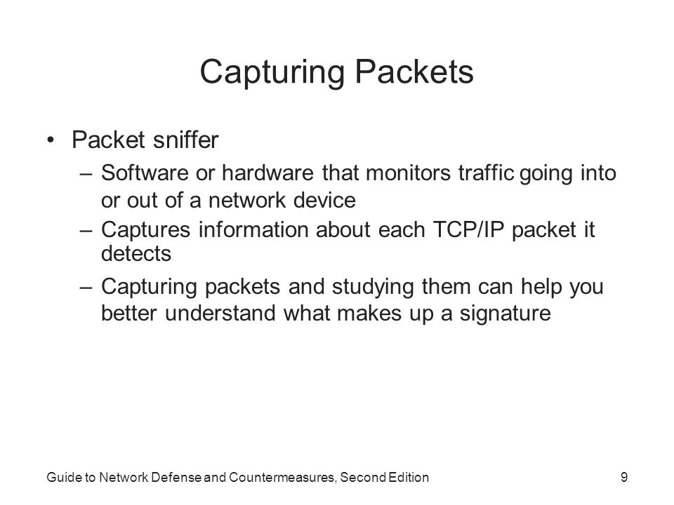 Capturing Packets Packet sniffer