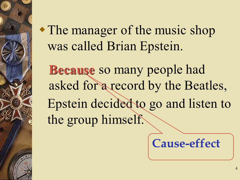 The manager of the music shop was called Brian Epstein.