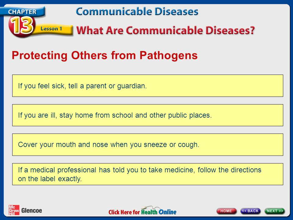 Protecting Others from Pathogens