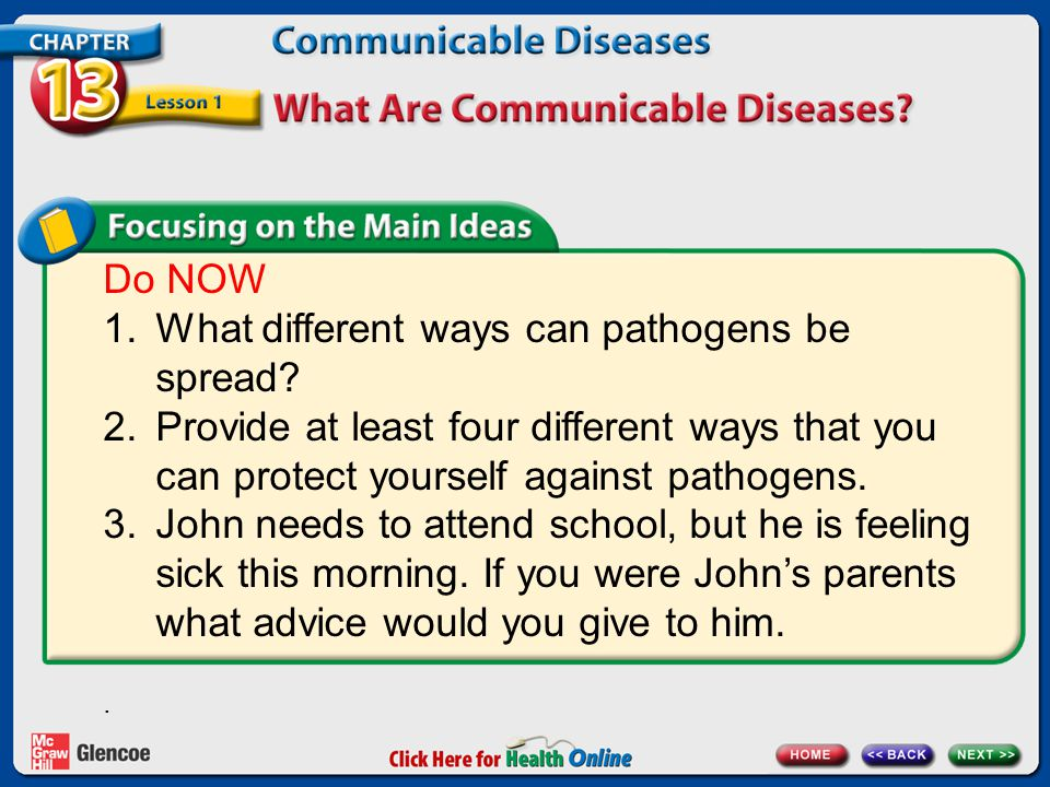 What different ways can pathogens be spread