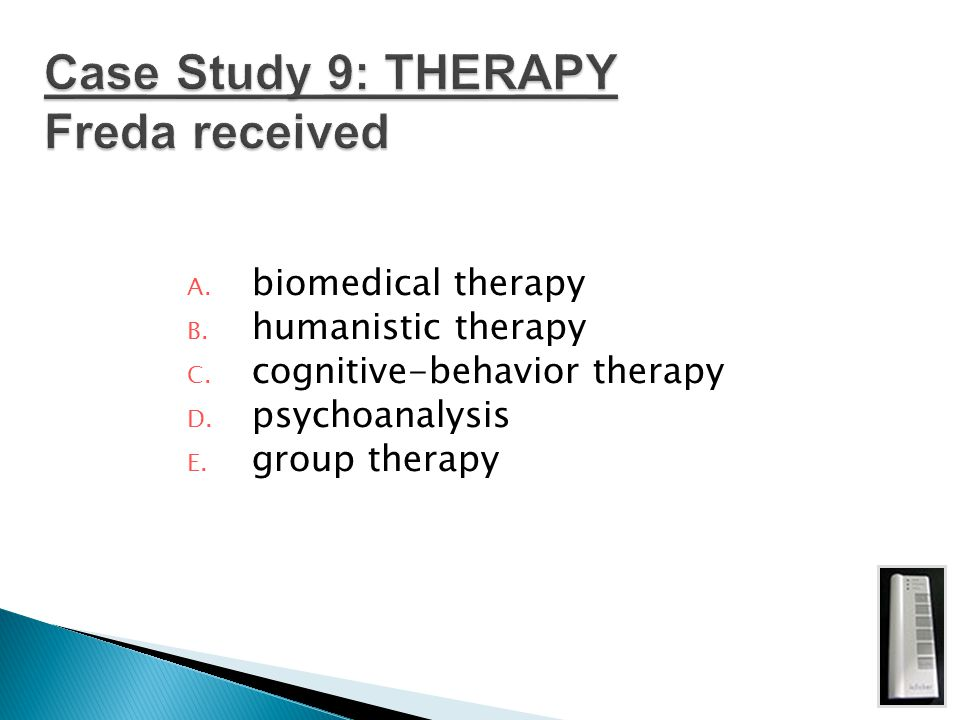 Case Study 9: THERAPY Freda received