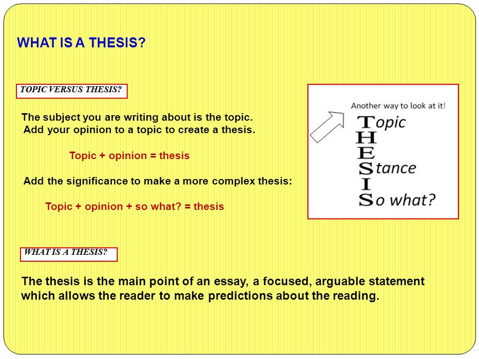what is your thesis The basics of writing a thesis statement or introduction sentence check out the easybibcom tutorial for works cited page help.