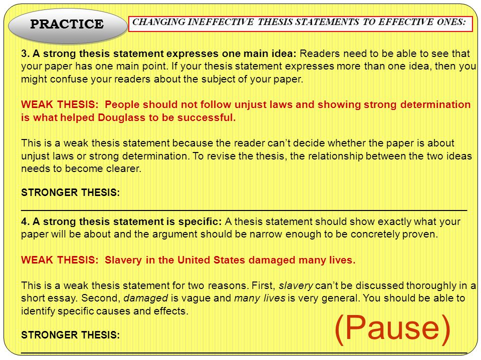what a good thesis statement has The four keys to writing a good thesis statement assertive: the thesis would set out what you believe or are suggesting for example.