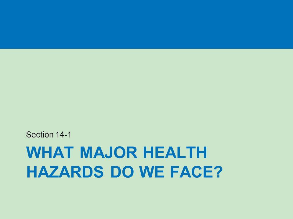 What major health hazards do we face