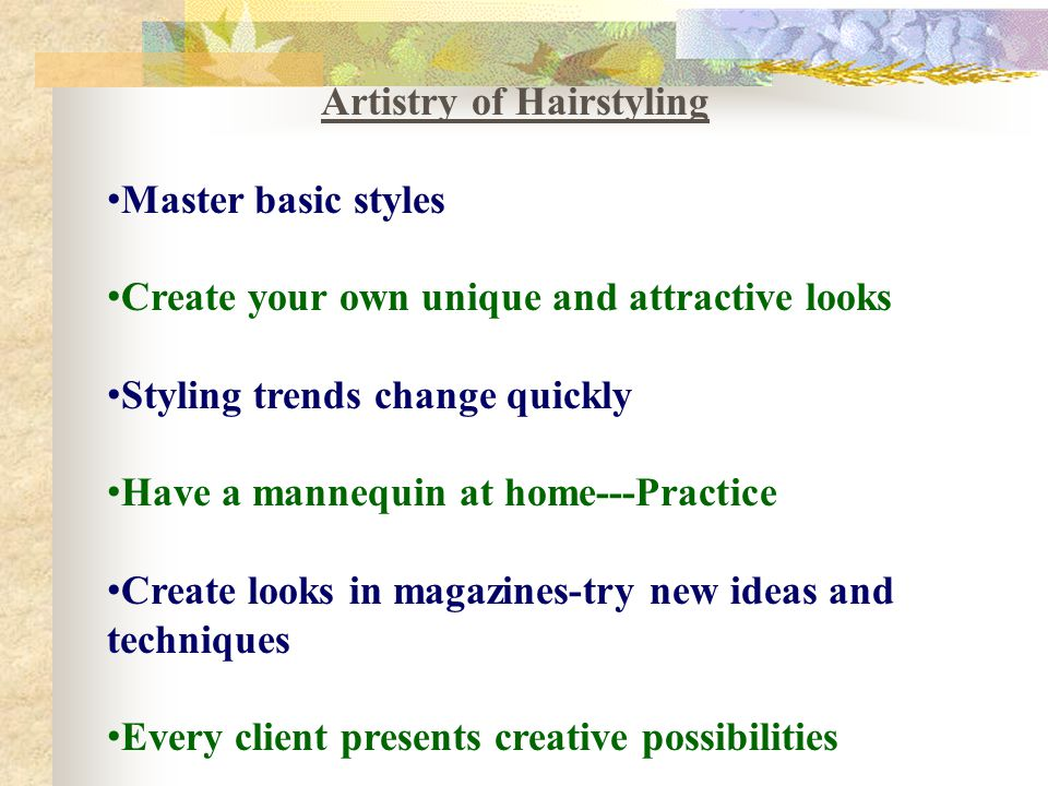 Artistry of Hairstyling