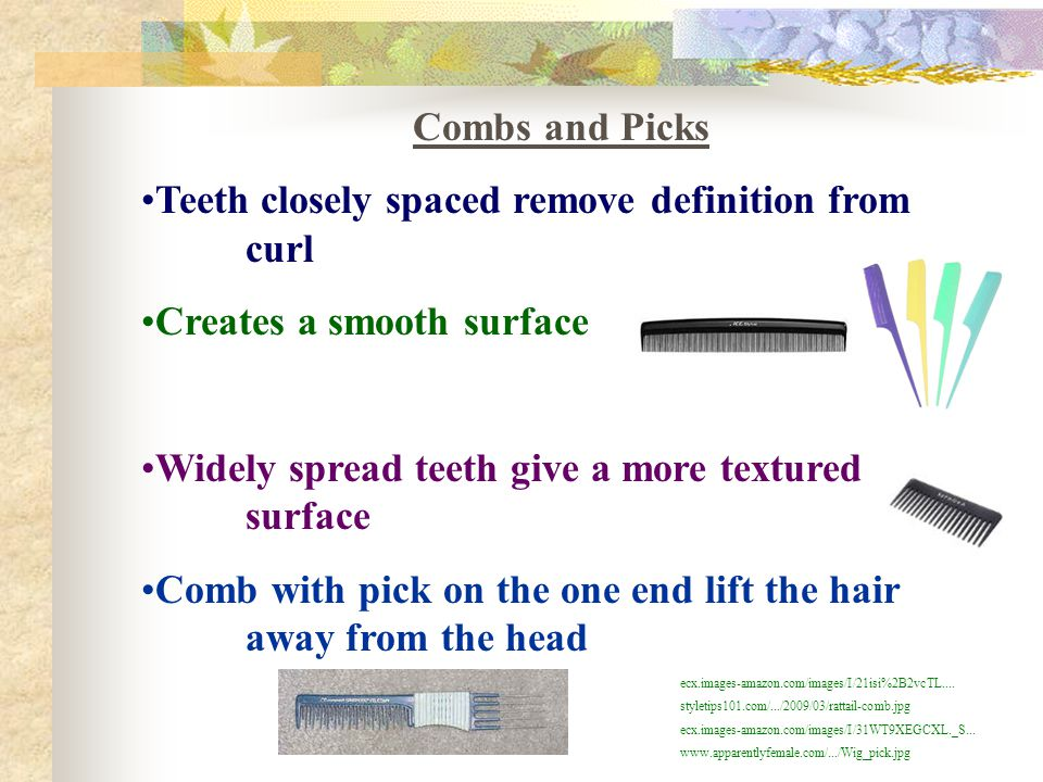 Teeth closely spaced remove definition from curl