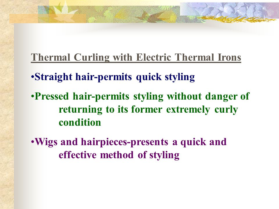 Thermal Curling with Electric Thermal Irons