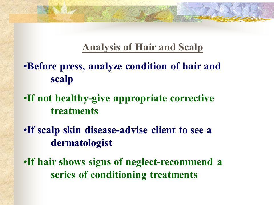 Analysis of Hair and Scalp