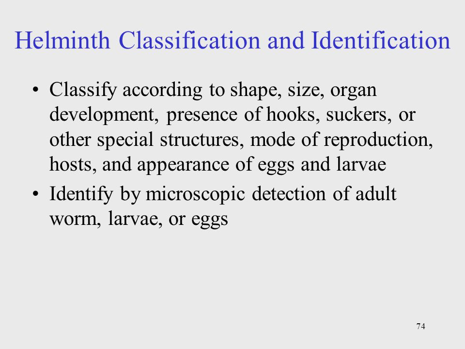 Helminth Classification and Identification