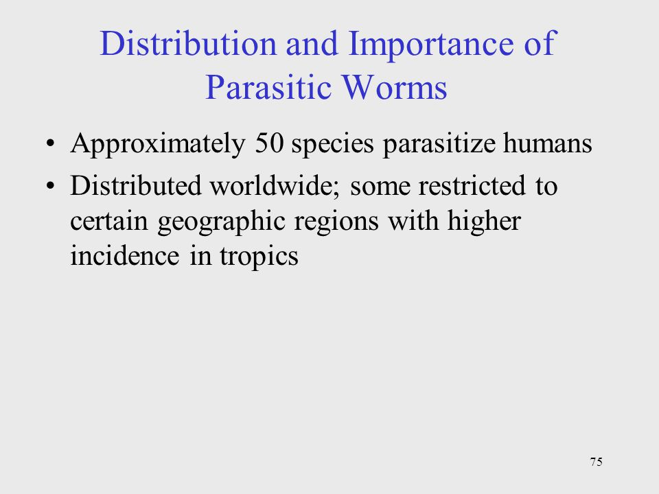 Distribution and Importance of Parasitic Worms