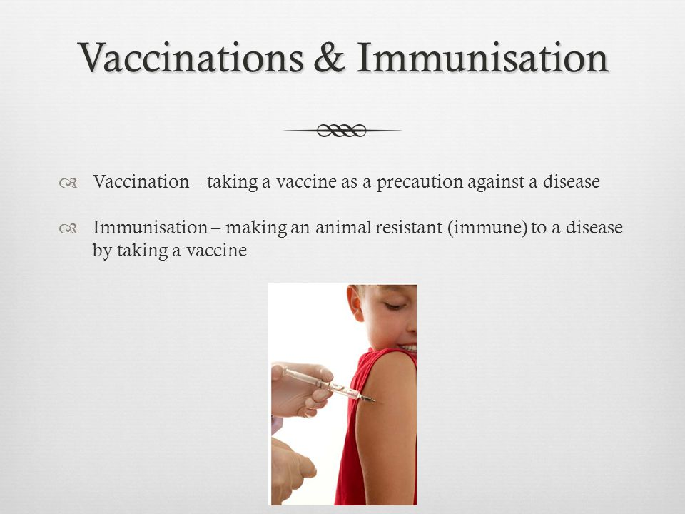 Vaccinations & Immunisation
