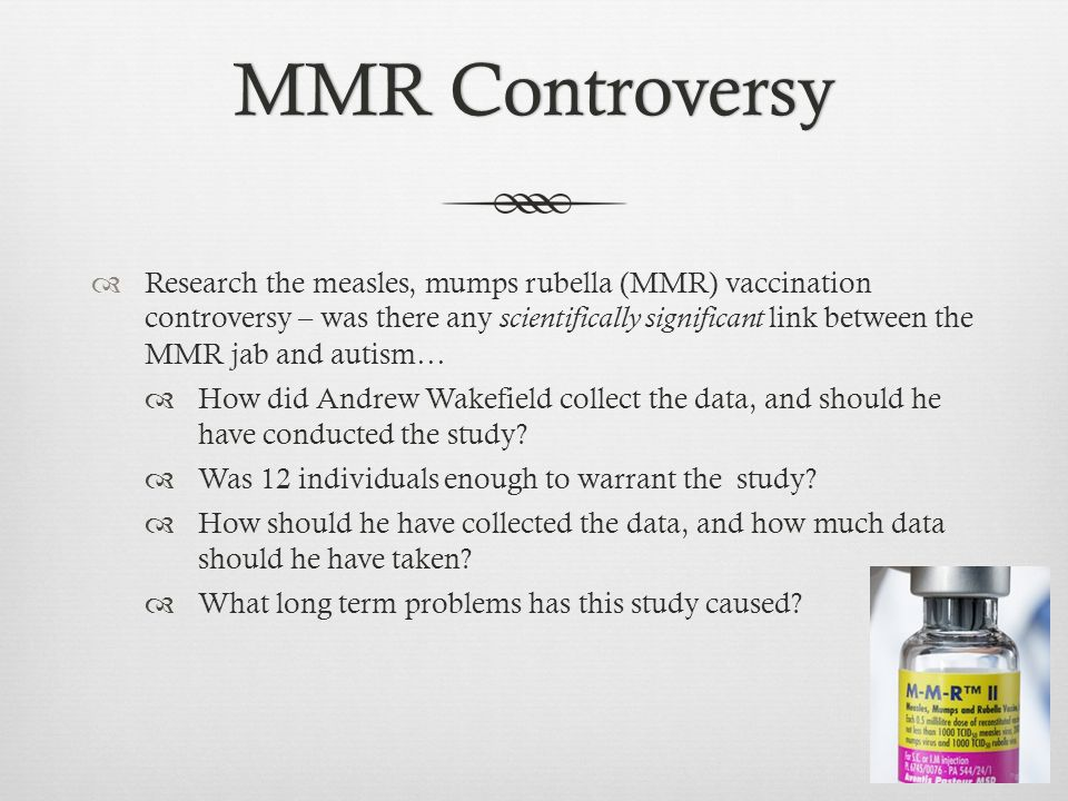 MMR Controversy
