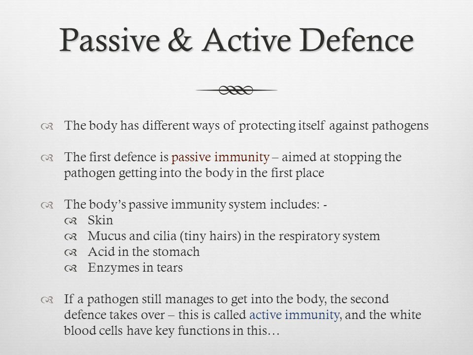 Passive & Active Defence