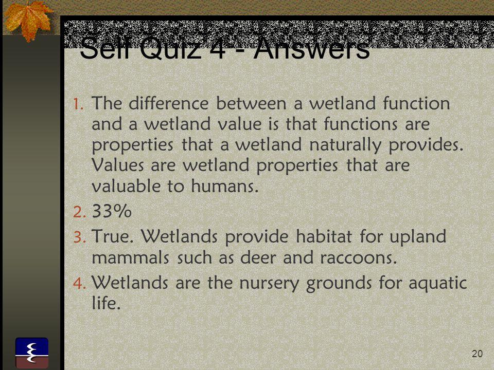 Self Quiz 4 - Answers