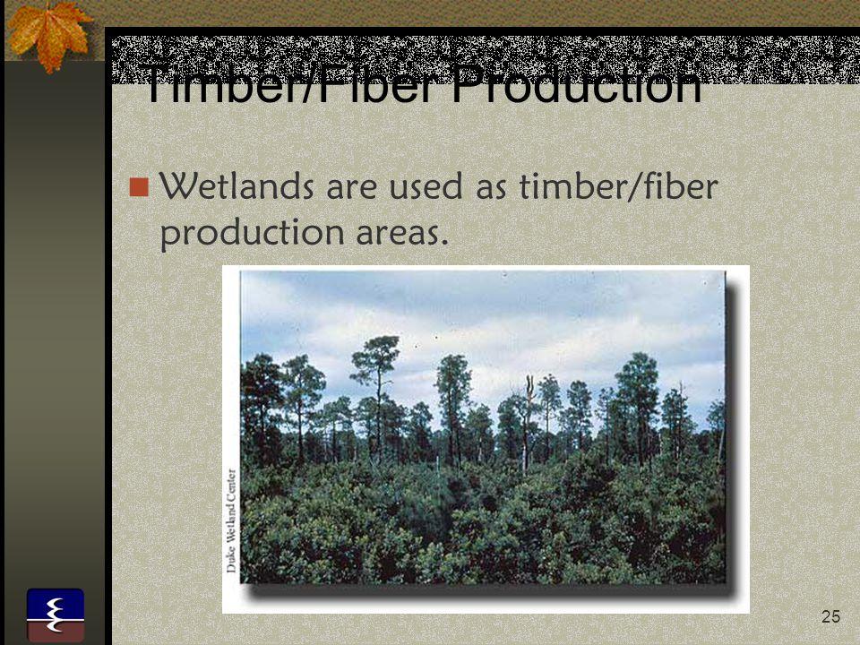 Timber/Fiber Production