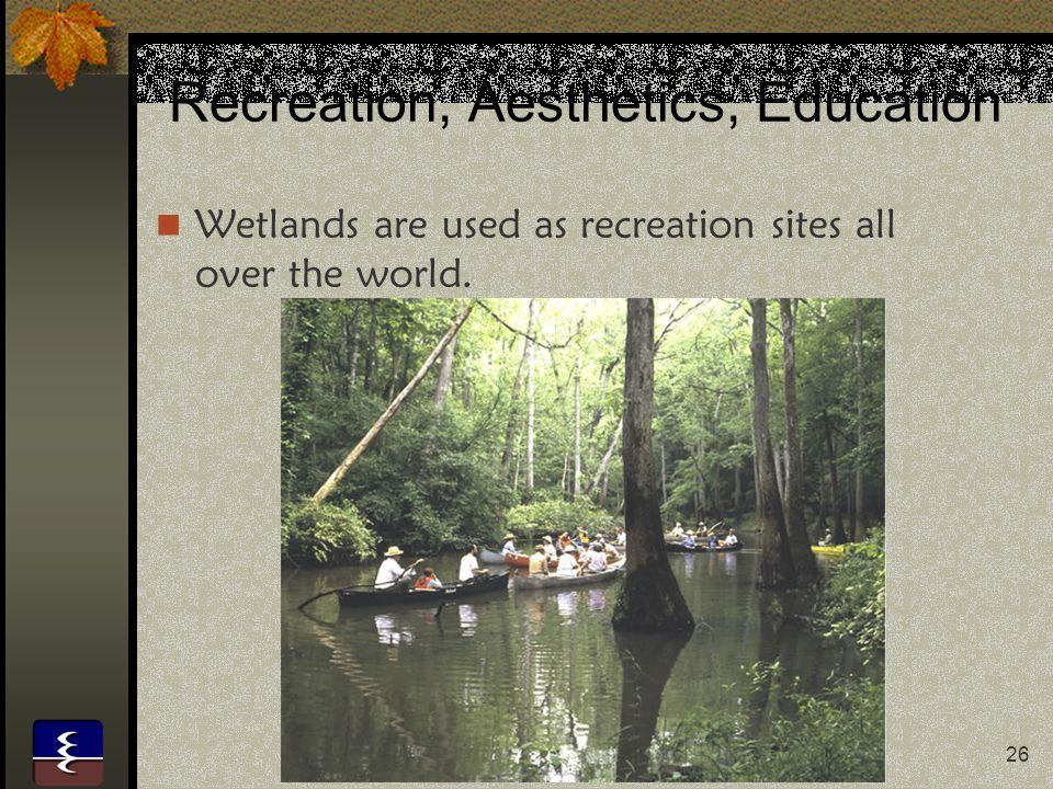 Recreation, Aesthetics, Education