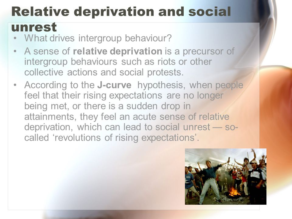 Relative deprivation and social unrest