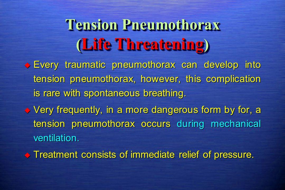 Tension Pneumothorax (Life Threatening)