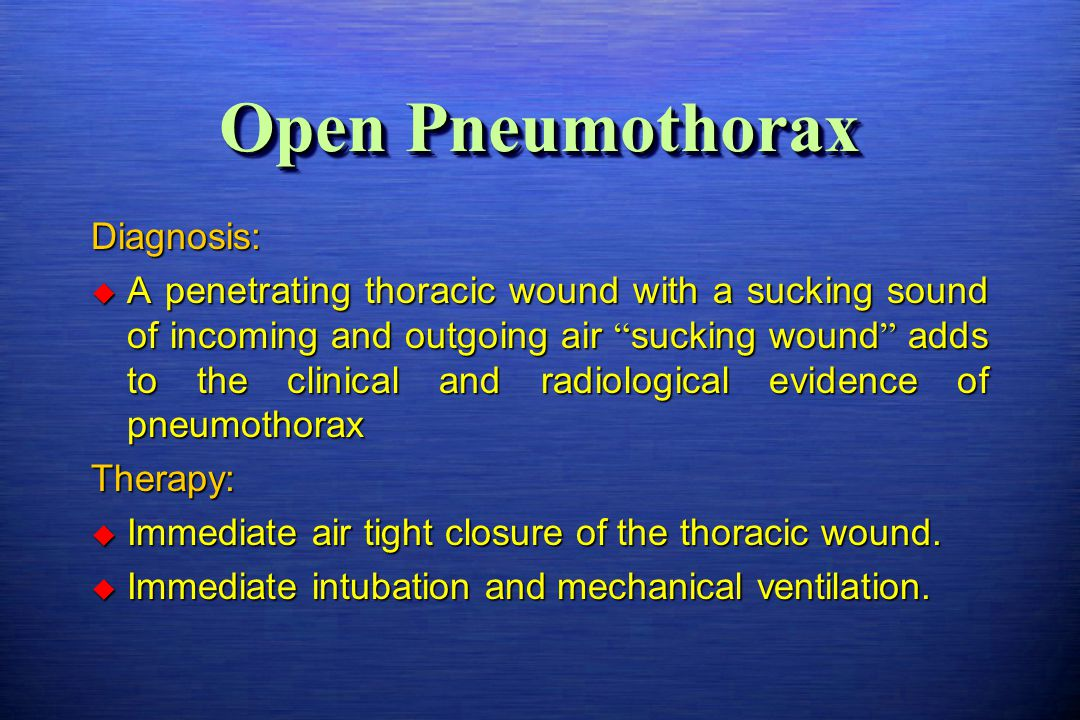 Open Pneumothorax Diagnosis: