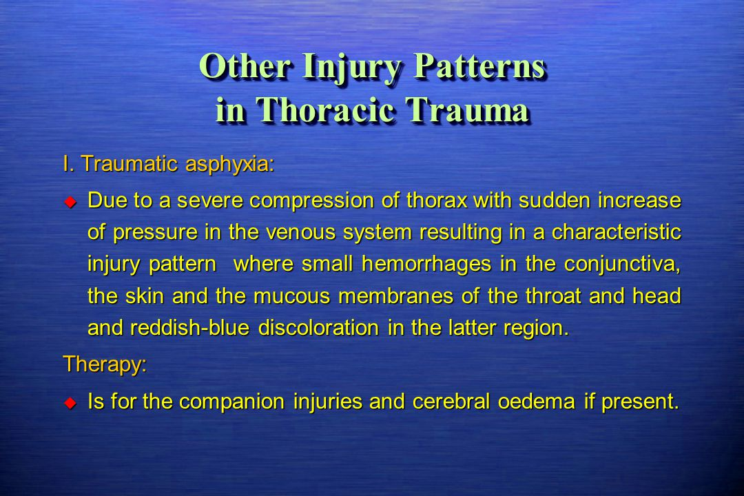 Other Injury Patterns in Thoracic Trauma