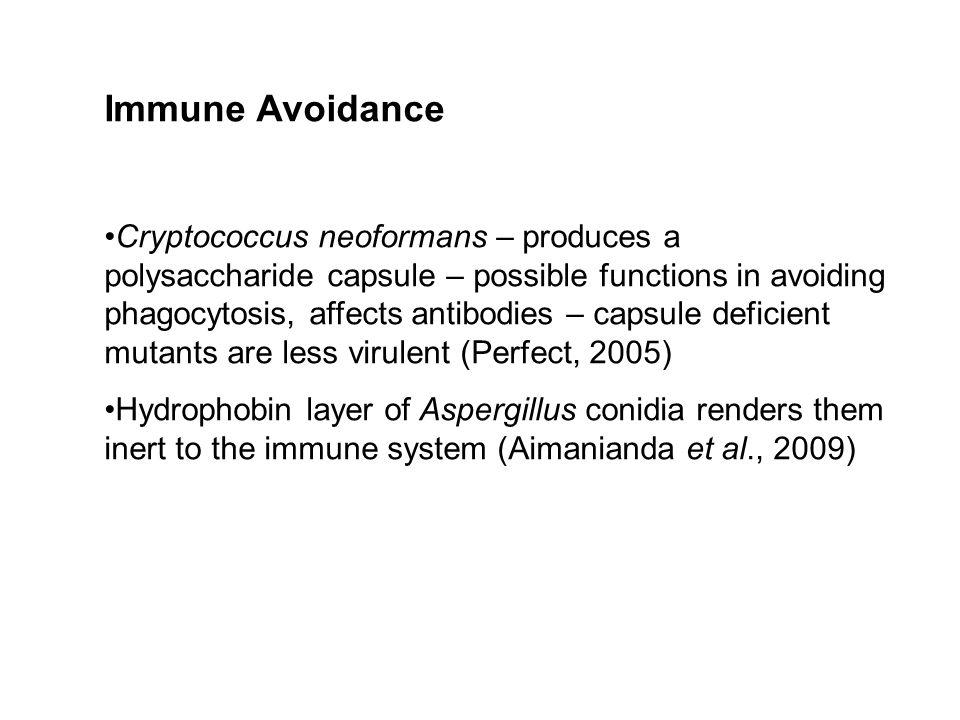 Immune Avoidance