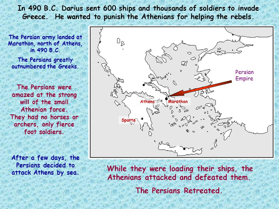 The Persians Retreated.