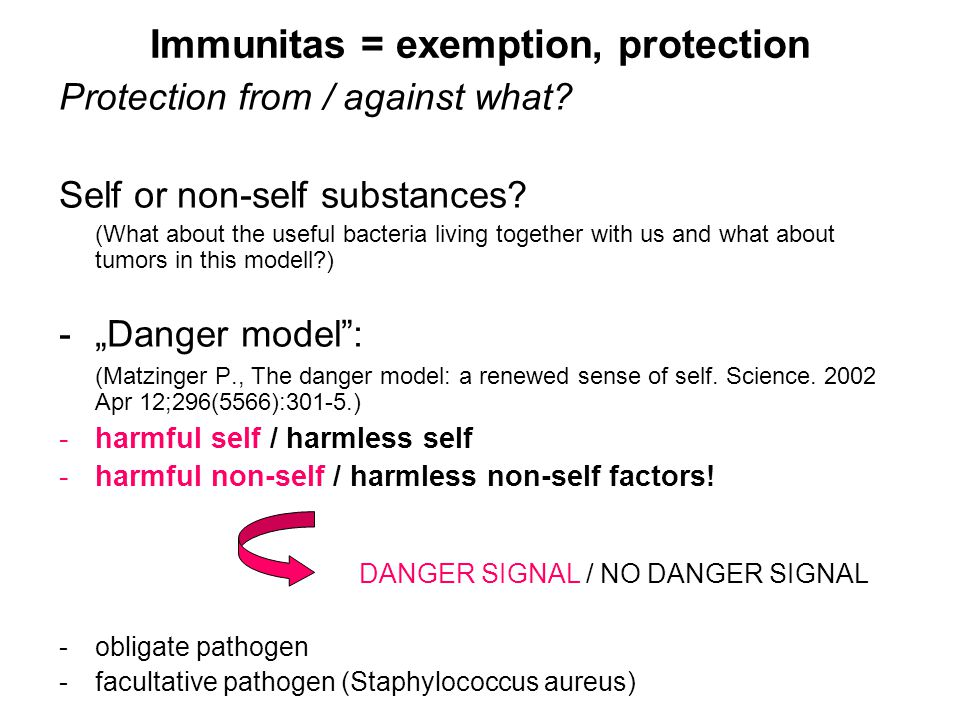 Immunitas = exemption, protection