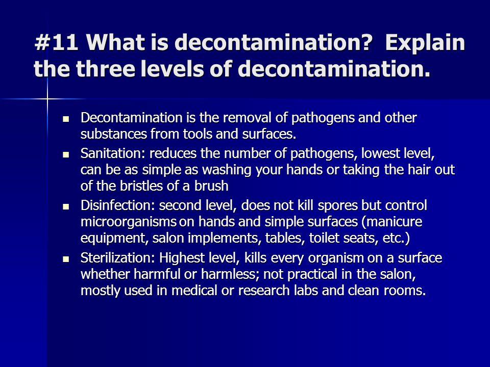 #11 What is decontamination