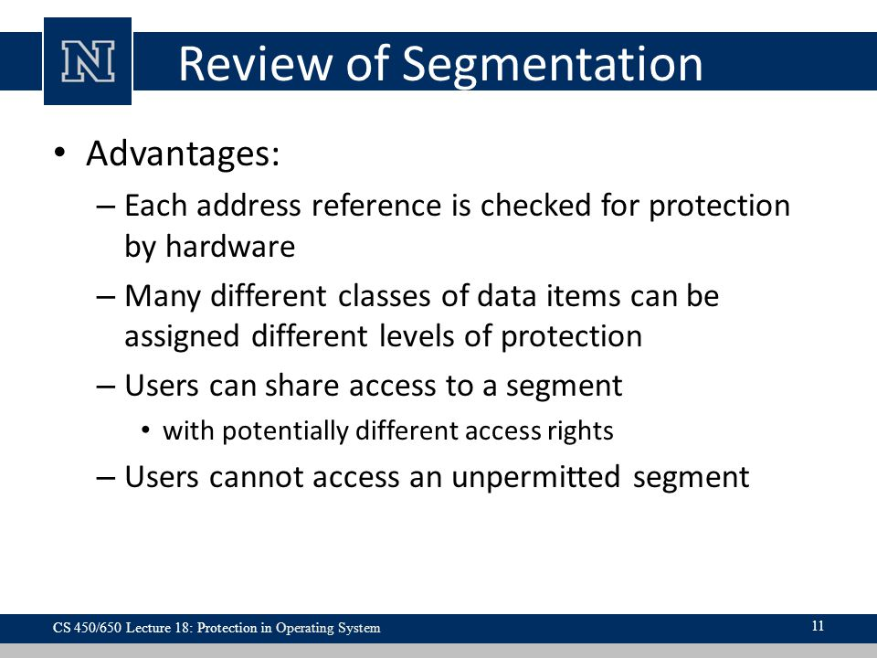 Review of Segmentation