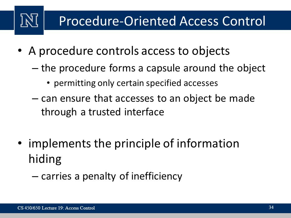 Procedure-Oriented Access Control