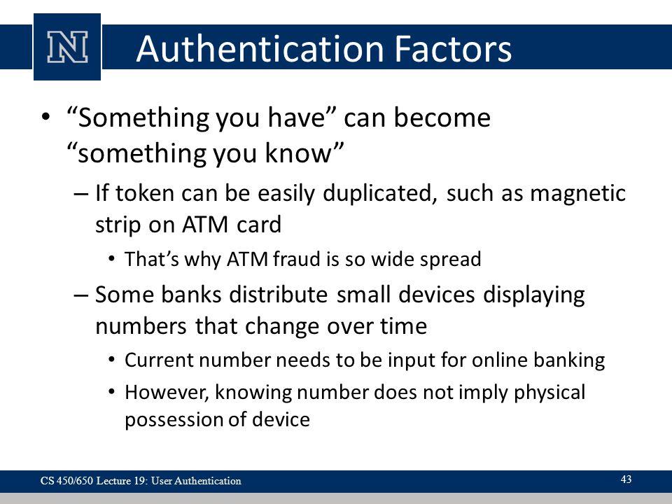 Authentication Factors