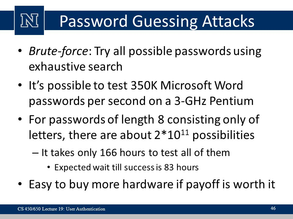 Password Guessing Attacks