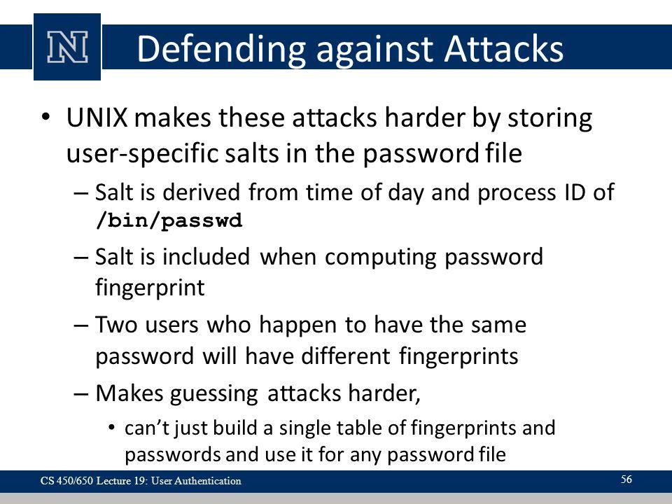 Defending against Attacks