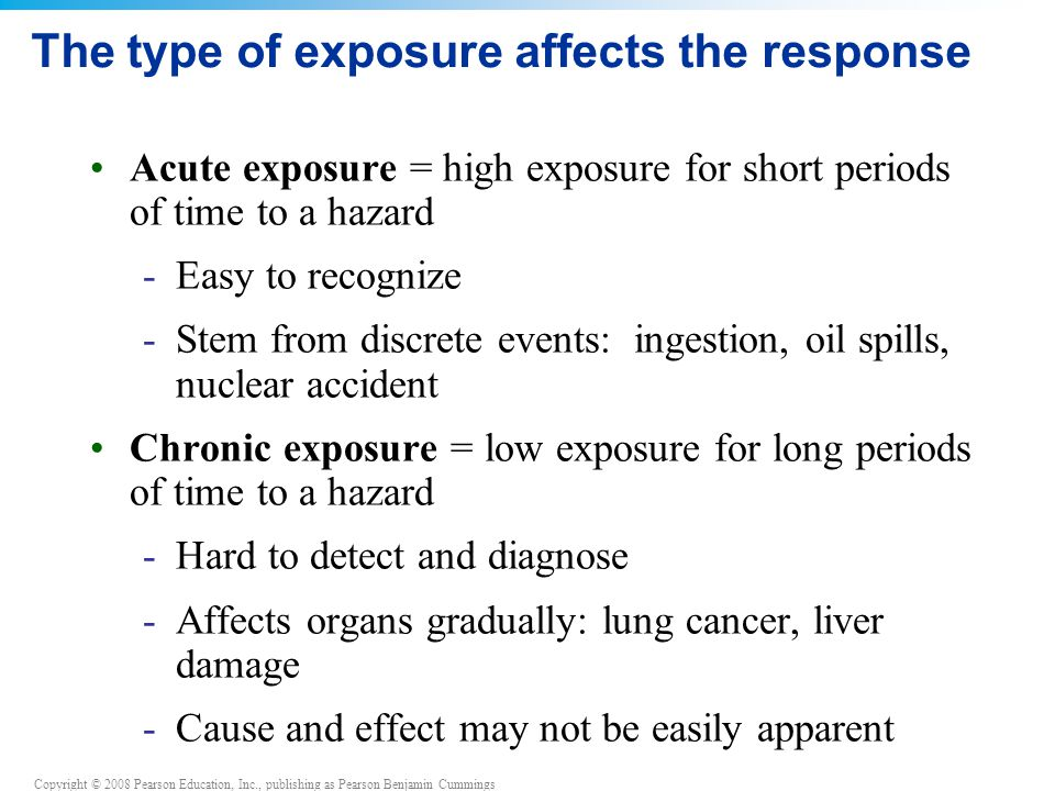 The type of exposure affects the response