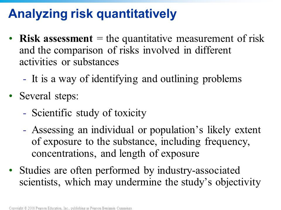 Analyzing risk quantitatively
