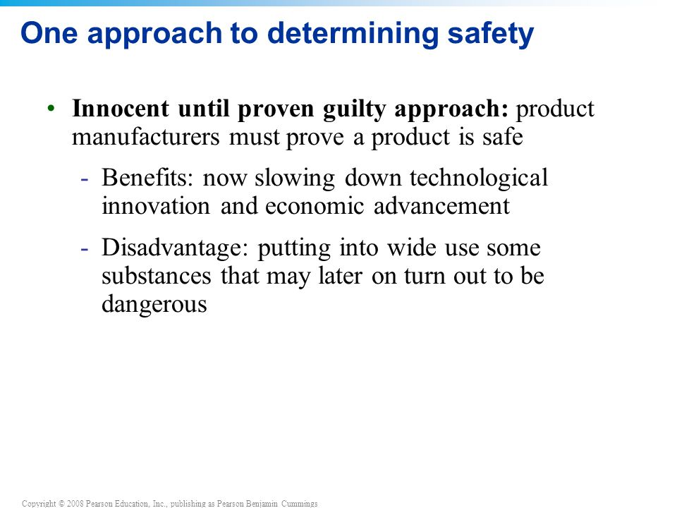 One approach to determining safety