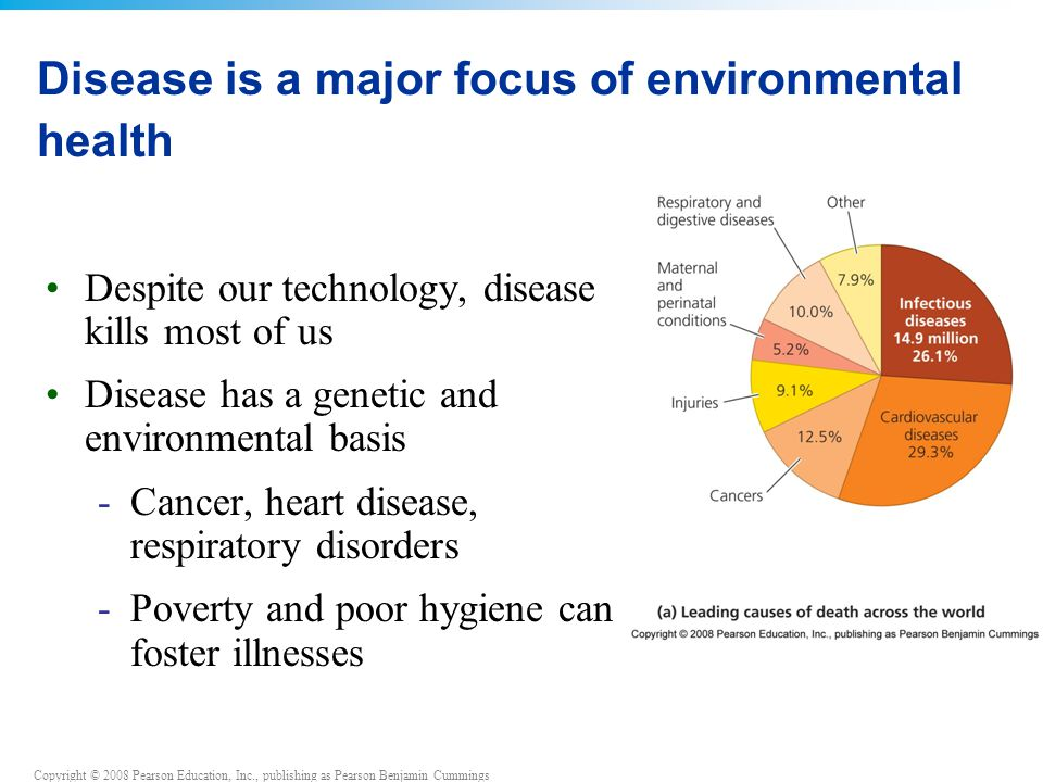 Disease is a major focus of environmental health
