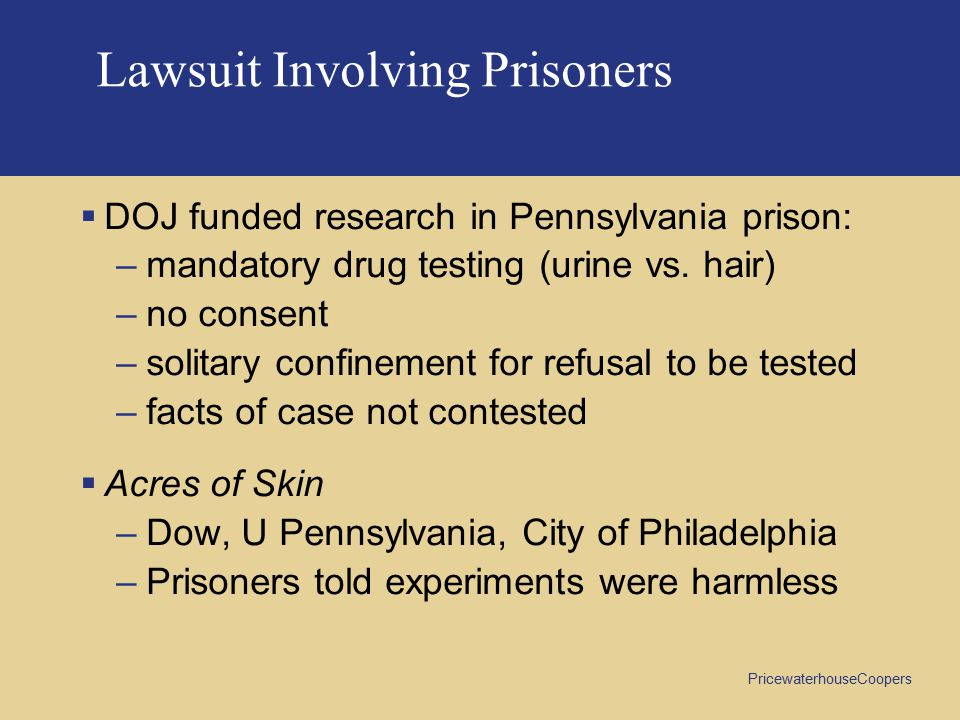 Lawsuit Involving Prisoners