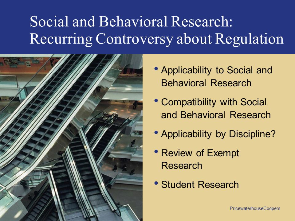 Social and Behavioral Research: Recurring Controversy about Regulation