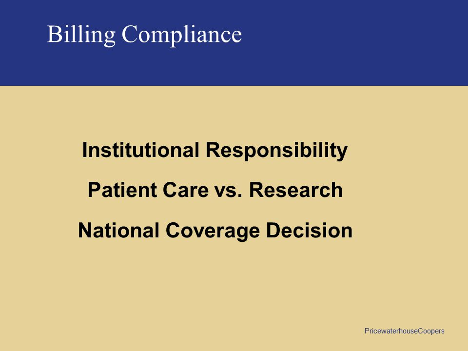 Patient Care vs. Research National Coverage Decision