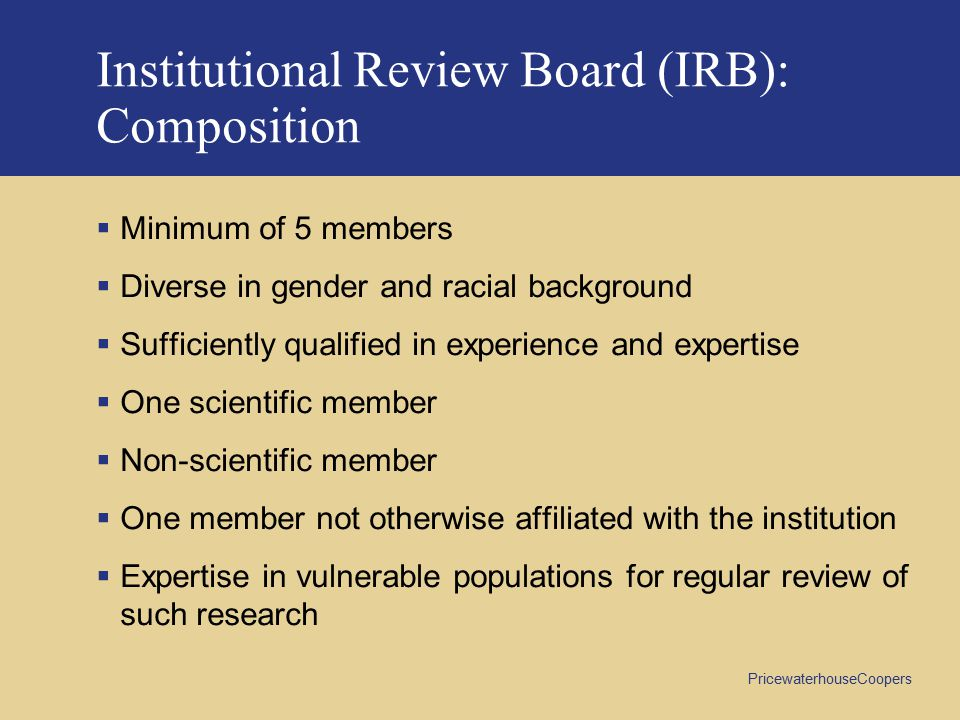 Institutional Review Board (IRB): Composition