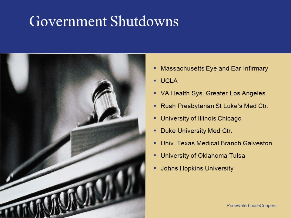 Government Shutdowns Massachusetts Eye and Ear Infirmary UCLA
