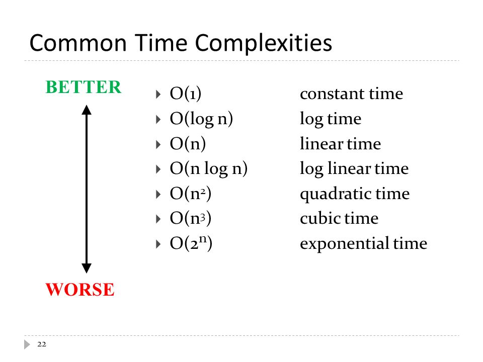 Common Time Complexities