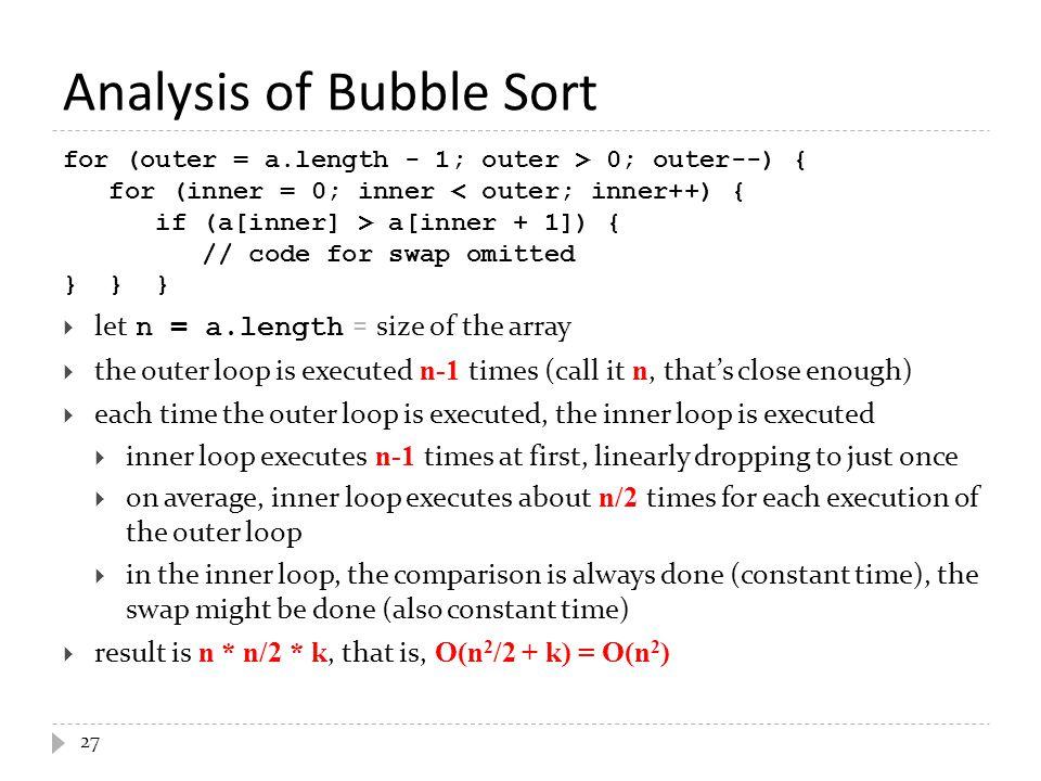 Analysis of Bubble Sort